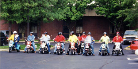 Cushman Scooter Group Ride Photo